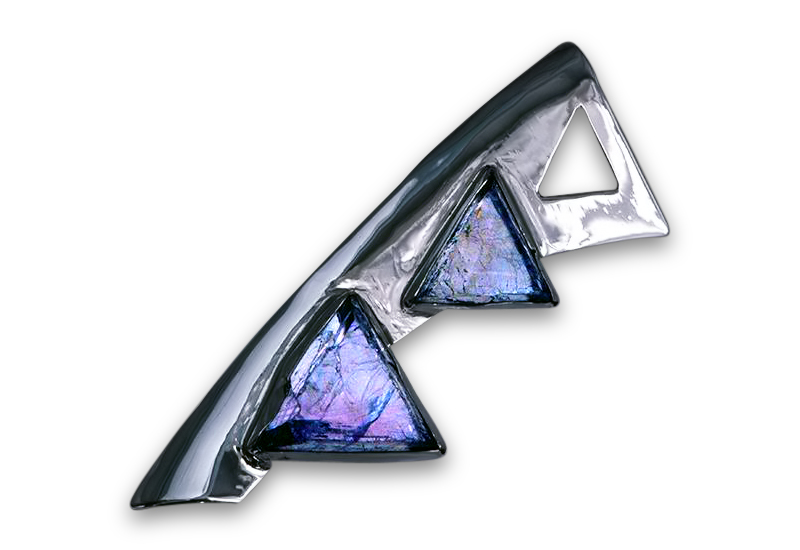 Pyramids of Flourite– A Brooch