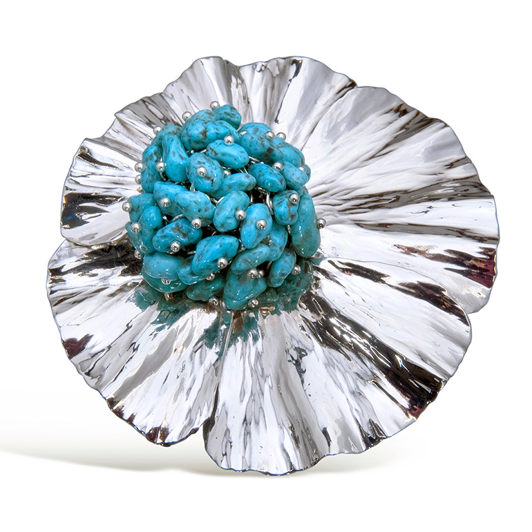 Statement Brooch with Turquoise