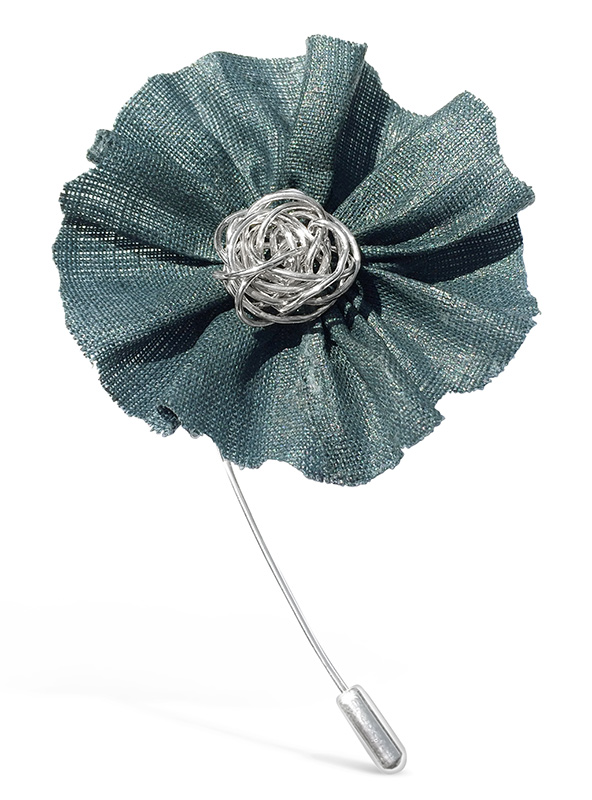 Green Linen Stick Pin