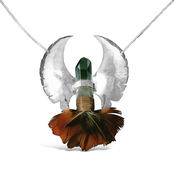 Feather Crystal Pend